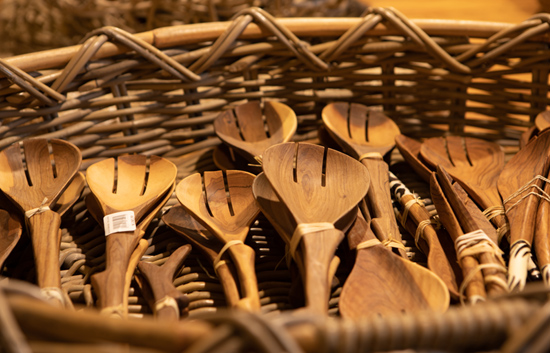 African inspired wooden utensils